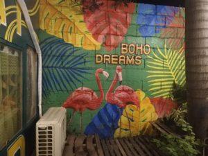 Boho Dreams Grill & Cafe ウォールアート