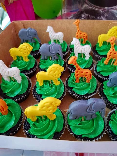 動物 カップケーキ